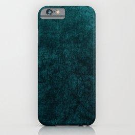 Teal Blue Velvet Texture iPhone Case