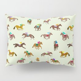 Off to the Horse Races (Mint) Pillow Sham