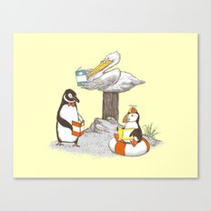 Birds of Literacy Canvas Print
