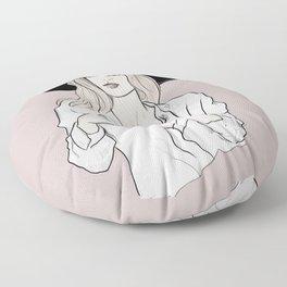 Fashion icon - Kate Moss inspired illustration Floor Pillow