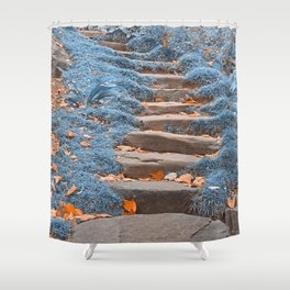 Sapphire Stepping Stones Shower Curtain