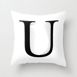 oboTypo _ U Throw Pillow