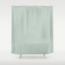 Teal Scattered Gingko Leaves Shower Curtain