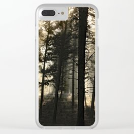 Woodland Sunrise Clear iPhone Case