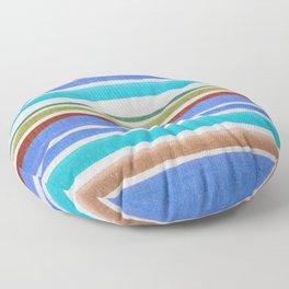 AZTEC BLANKET - BLUE Floor Pillow