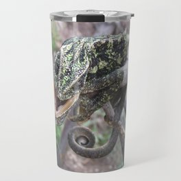 Colourful Chameleon Wrapped Around A Branch Travel Mug