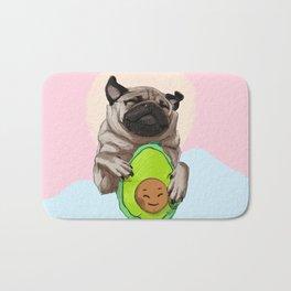 Pug and Avocado Bath Mat