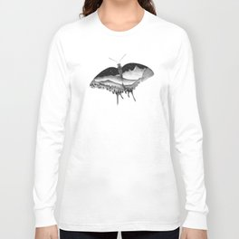 Dotwork Butterfly Landscape Long Sleeve T-shirt