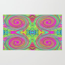 Groovy Abstract Pink Swirl Art 094 Pattern Rug
