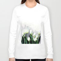 tulips Long Sleeve T-shirts featuring Tulips by Bridget Davidson