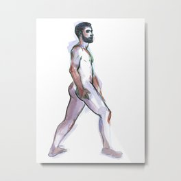 ED, Nude Male by Frank-Joseph Metal Print