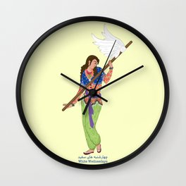 White Wednesdays Wall Clock