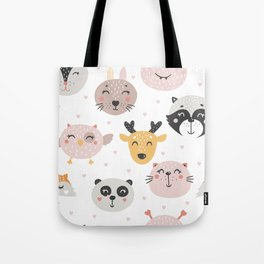 Woodland Critters Pattern Tote Bag