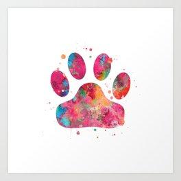 Colorful Paw Art Print
