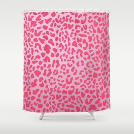 Candy Pink Leopard Shower Curtain