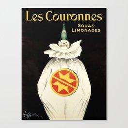 Vintage poster - Les Couronnes Canvas Print