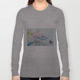 Alien Cow Innoculates Earth Long Sleeve T-shirt