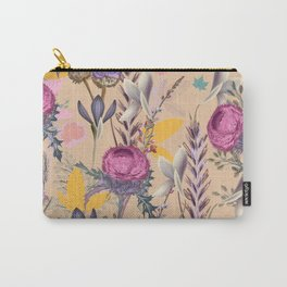Flower autumn vector pattern with plants. Vintage provance style Carry-All Pouch