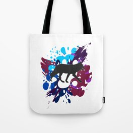 Splattered Paint Wolf Tote Bag