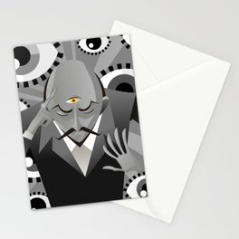 third eye mentalist with eyes background Stationery Cards