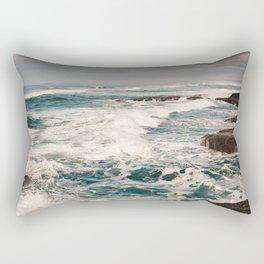 Green Tropical Beach Waves Ocean Adventure Rectangular Pillow