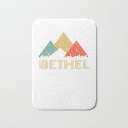 Retro City of Bethel Mountain Shirt Bath Mat