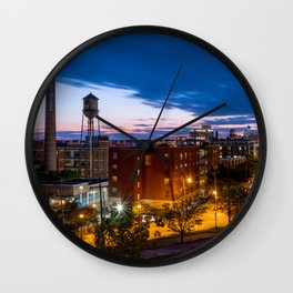 Libby Hill Post Sunset Views In Richmond VA Wall Clock