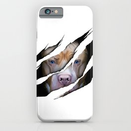 Pit Bull Torn Effect illustration iPhone Case