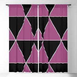 Purple and Black Geometric Patterns Blackout Curtain