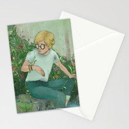 boy and snake  Stationery Cards