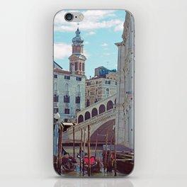 Venice - Rialto Bridge and Gondola iPhone Skin