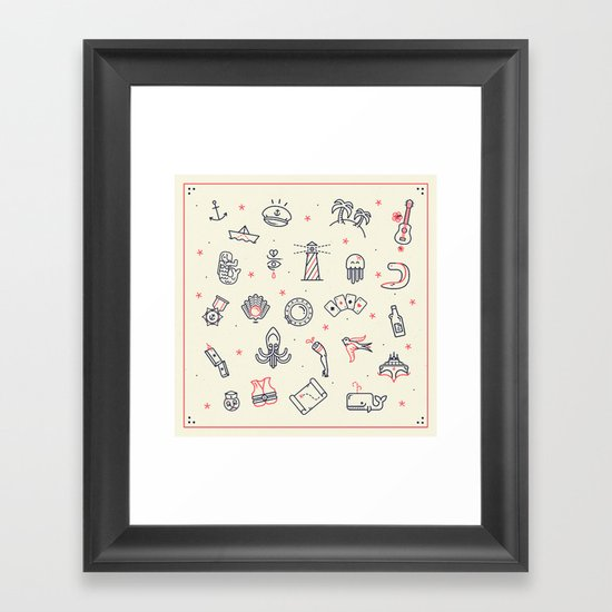 Ahoy! Icons Framed Art Print