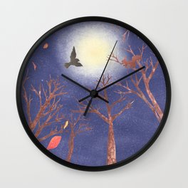 A Blast of Late Autumn Wind | Miharu Shirahata Wall Clock