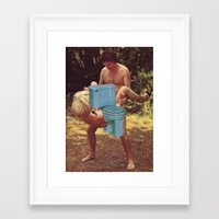 toilet Framed Art Prints featuring Toilet sex by Martin Carri