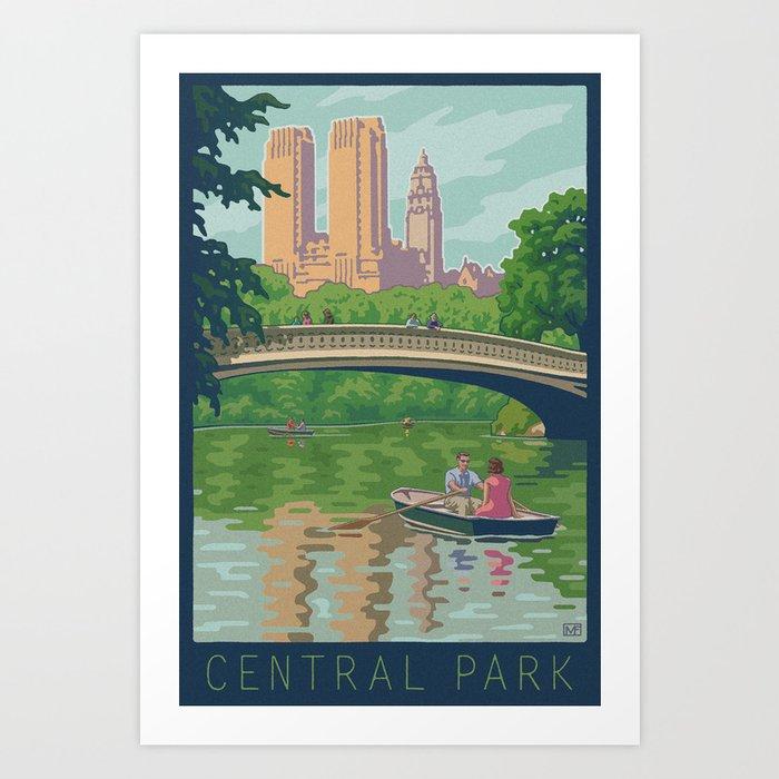 Bow Bridge, Central Park Art Print