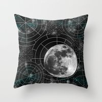 borderlands Throw Pillows featuring Midnight by Astrablink7
