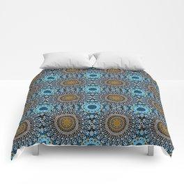 Calligraphic Boho (Blue) Comforters