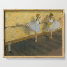 "Edgar Degas ""Dancers Practicing at the Barre"" Serving Tray"