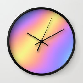 Colorful Gradient Abstract Rainbow Pattern Holographic Foil Wall Clock