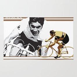 cycling legend Eddy 'The Cannibal' Merckx Rug