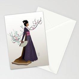 Purple Kimono Stationery Cards