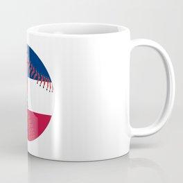 Mississippi Flag Baseball Coffee Mug