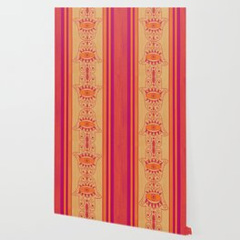Double Orange Denim Hamsa Wallpaper