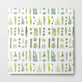 Green Leafy Garden Metal Print