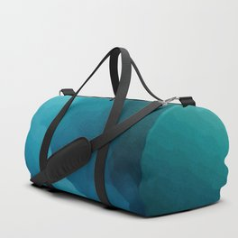 """""""Inner Calm"""" Turquoise Modern Contemporary Abstract Duffle Bag"""