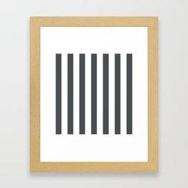 Grey and white stripes Framed Art Print