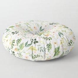 Botanical Spring Flowers Floor Pillow