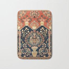 Kashan Poshti  Antique Central Persian Rug Print Bath Mat