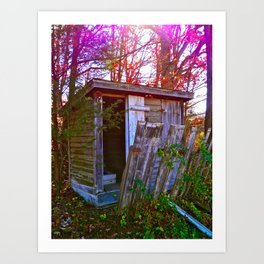 Roadside Shack Art Print