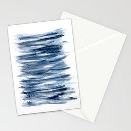 Just Indigo 2   Minimalist Watercolor Stationery Cards